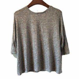 NWOT Love In Gray 3/4 sleeve sweater-XXL